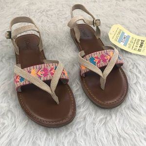 NIB TOMS Lexie Embroidered Thong Sandal